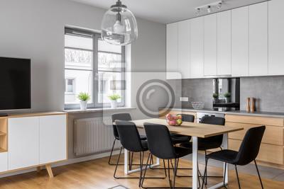Küche mit esszimmer fototapete • fototapeten appartment ...