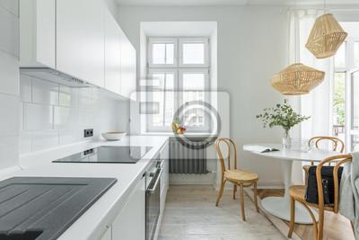 Küche mit rundtisch fototapete • fototapeten runder Tisch ...
