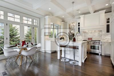 Küche mit weißem schrank fototapete • fototapeten Möblierung ...