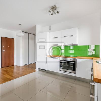 Fototapete: Küche mit weißen möbeln