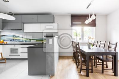 Küche offen zum essbereich fototapete • fototapeten ...