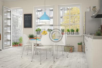 Genial Fototapete Küche Und Esszimmer In Einer Altbau Wohnung