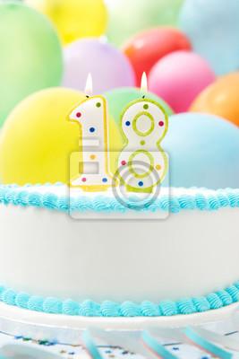 Kuchen Feiern 18 Geburtstag Fototapete Fototapeten Mehrfarben