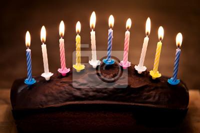 Kuchen Mit 10 Kerzen Geburtstag Und Feier Geburtstagskuchen
