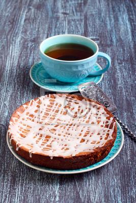 Kuchen Mit Glasur Auf Teller Fototapete Fototapeten Chocoholic