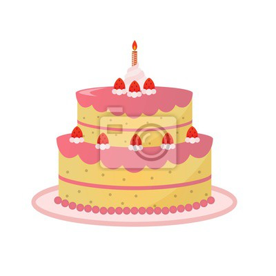 Kuchen Torte Vektor Clipart Fototapete Fototapeten Myloview De