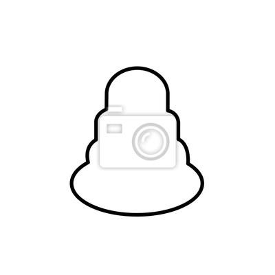 Kuchen Umriss Clipart Auf Weißem Hintergrund Fototapete