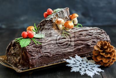 Kuchen Weihnachten Log Fototapete Fototapeten Roulade Geniesser