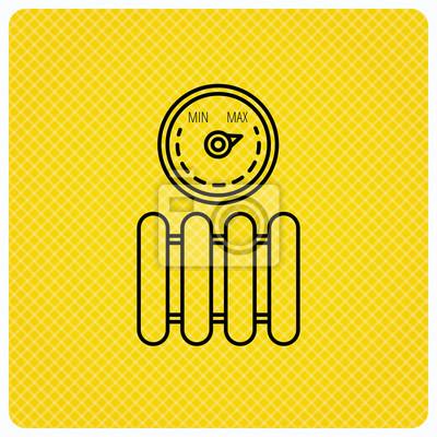 Kühler mit regler-symbol. heizung zeichen. fototapete • fototapeten ...