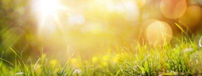 Fototapete Kunst abstrakte Frühjahr Hintergrund oder Sommer Hintergrund mit frischen g