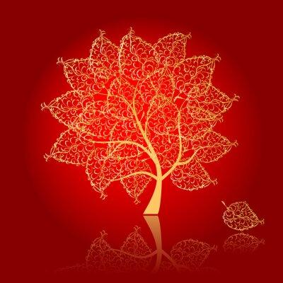 Kunst Baum schön für Ihr Design