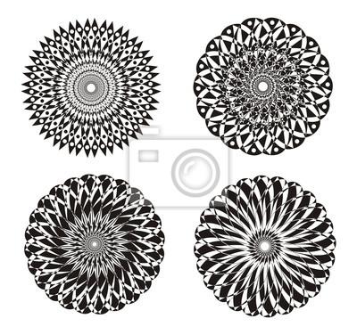 Kunst hintergrund. mandala. abstrakte verzierung. symbol. schwarz ...