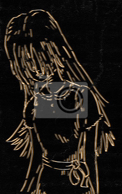 Kunst Madchen Zeichnen Fototapete Fototapeten Schone Shampoo