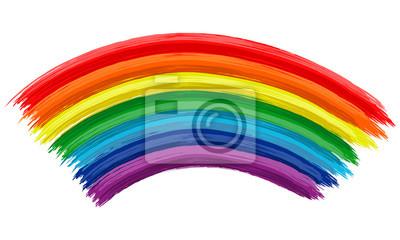 Kunst Regenbogen Farbe Pinselstrich Farbe Zeichnen Hintergrund