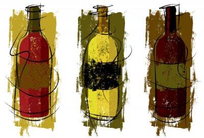 Künstlerische Weinflaschen