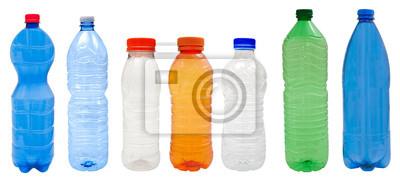 Fototapete Kunststoff-Flaschen