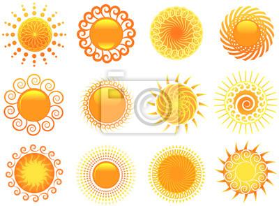 Kunstvolle Sonne