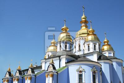 Kuppeln der Kirche (St. Mikhail Kloster Kiew, Ukraine)