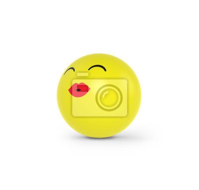 Kusschen Geben Fototapete Fototapeten Emoticons Freuen Smileys