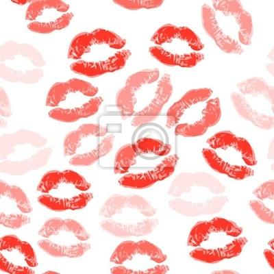 Küssen nahtlose Hintergrund, Lippen