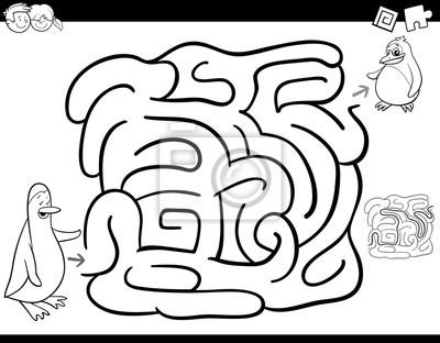 Fototapete Labyrinth Spiel Ausmalbilder Zum Ausmalen