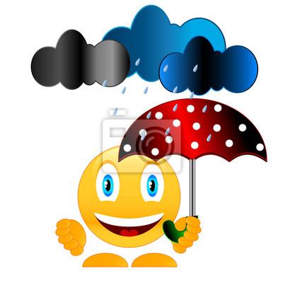 Lächeln mit Regenschirm
