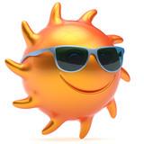 Sun smiley gesicht ball sonnenbrille fr hlich sommer stern l cheln fototapete fototapeten - Sommer zimmer kuhlen ...