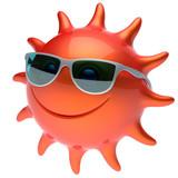 Smiley sonne sonnenbrille sterne fr hlich gesicht sommer l cheln fototapete fototapeten - Sommer zimmer kuhlen ...
