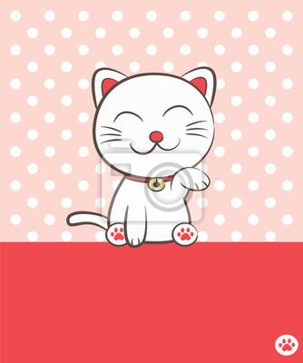 lächelnden Katze