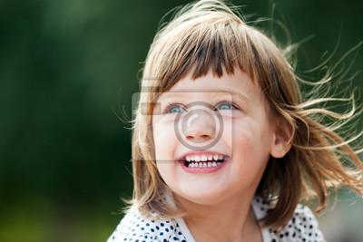 Fototapete lachendes Mädchen