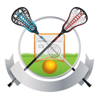 Lacrosse Emblem und Banner Design