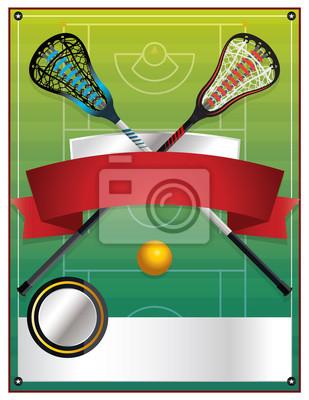 Lacrosse-Ereignis-Schablone