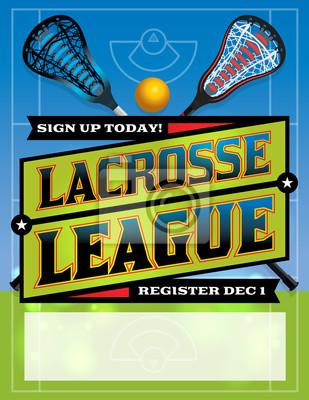 Lacrosse-Liga-Schablonen-Entwurf