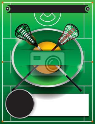 Lacrosse-Schablonen-Flyer