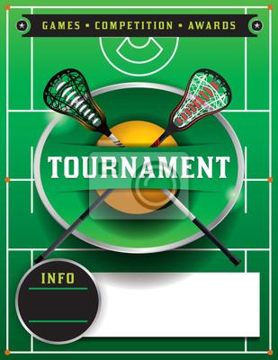Lacrosse-Turnier-Flyer-Schablone