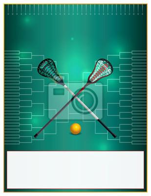 Lacrosse-Turnier-Schablonen-Flyer