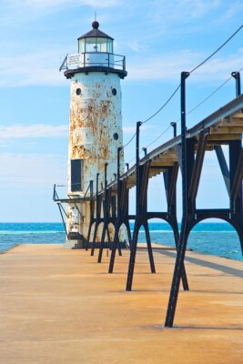 Fototapete Lake Michigan Lighthouse