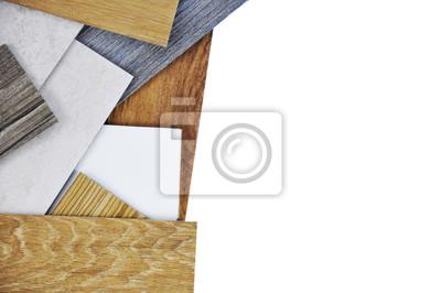 Laminat Holz Konzept Proben Von Laminat Und Vinyl Boden Fliesen