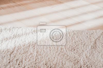 Laminat Parkettboden Helle Holz Textur Beiger Weicher Teppich