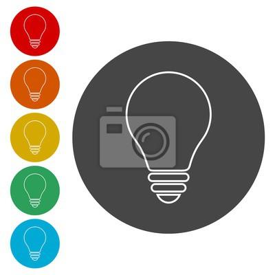 Lampe-symbol, glühbirne-symbol fototapete • fototapeten Glühlampen ...