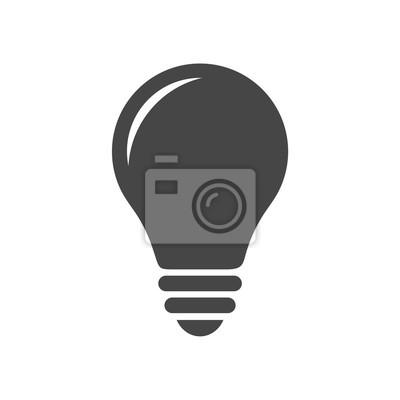 Lampen-symbol fototapete • fototapeten Glühlampen, Glühlampe, denkt ...
