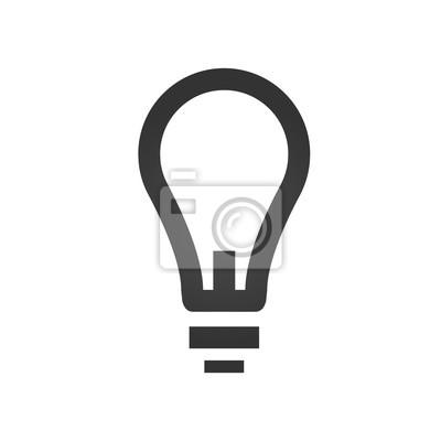 Lampen-symbol. einfache flache logo der lampe auf weißem hintergrund ...