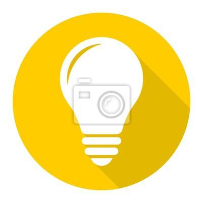 Lampen-symbol mit langen schatten fototapete • fototapeten ...