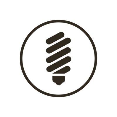 Lampen-symbol-vektor fototapete • fototapeten Glühlampe, Piktogramm ...