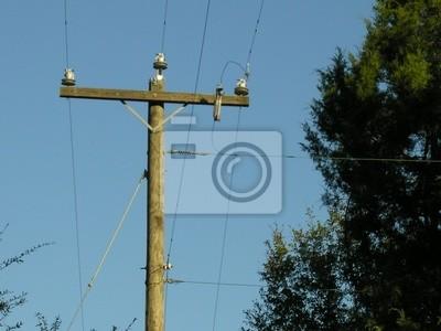 Land telefonmast fototapete • fototapeten Leitung, telefonieren ...