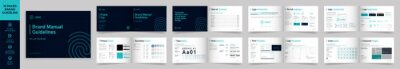 Fototapete Landscape Brand Manual Template, Simple style and modern layout Brand Style , Brand Book, Brand Identity, Brand Guideline, Guide Book