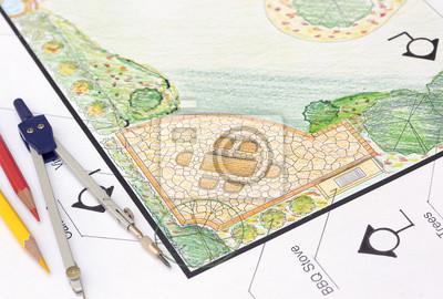 Fototapete Landschaft Architekt Design L Form Garten Planen
