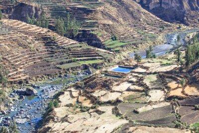 Fototapete Landschaft in den Anden. Peru.