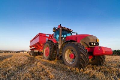 Fototapete Landwirtschaft Zugmaschine und Anhänger