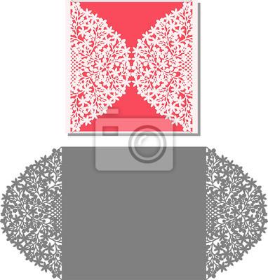 Laser-schnitt-einladungs-karte. laser-schnittmuster für ...